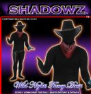 FANCY DRESS SHADOWSUITS/SKINZ/ZENTAI SUITS - COWBOY MEDIUM